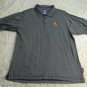 NFL Cleveland Browns Reebok Polo Shirt Size Large
